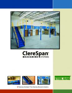 Featuring ClereSpan Free Standing Mezzanine Systems