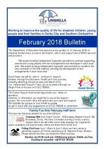 February 2018 Bulletin