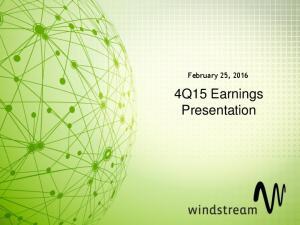 February 25, Q15 Earnings Presentation