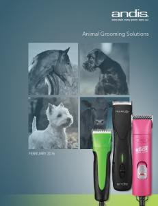 FEBRUARY Animal Grooming Solutions