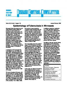 February Epidemiology of Tuberculosis in Minnesota