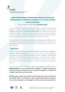 FECHA CIERRE DE CONVOCATORIA: 5 DE MAYO DE 2010
