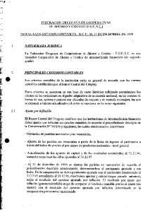 FEDERAC ION URUGUAYA DE COOPERATIVAS DE AHORRO Y CREDITO (F.U.C.A.C.)