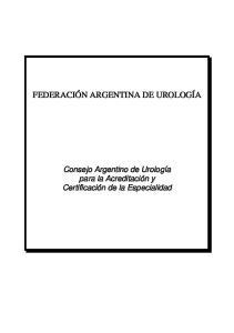FEDERACION ARGENTINA DE UROLOGIA