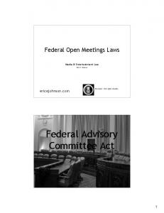 Federal Advisory Committee Act