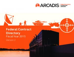 Federal Contract Directory Fiscal Year Version 2