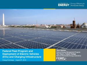 Federal Fleet Program and Deployment of Electric Vehicles (EVs) and Charging Infrastructure