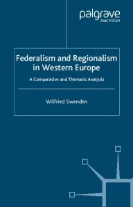 Federalism and Regionalism in Western Europe
