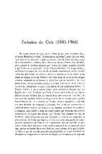Federico de Onis ( )
