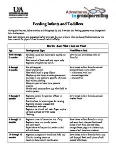 Feeding Infants and Toddlers