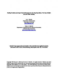 Feeding Practices and Input Cost Performance in U.S. Hog Operations: The Case of Split- Sex and Phase Feeding