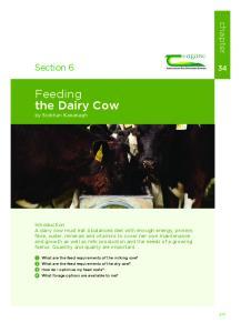 Feeding the Dairy Cow by Siobhan Kavanagh