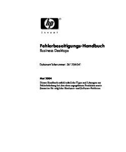 Fehlerbeseitigungs-Handbuch Business Desktops
