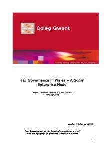 FEI Governance in Wales A Social Enterprise Model