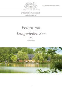 Feiern am Langwieder See ~