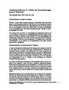 Feinstaubminderung im Umfeld der Braunkohlentagebaue im Rheinland