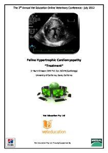 Feline Hypertrophic Cardiomyopathy. Treatment