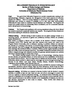 FELLOWSHIP PROGRAM IN ENDOCRINOLOGY