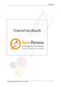 fem-fitness Trainerhandbuch fitness + ernährung + motivation rev
