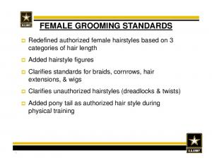 FEMALE GROOMING STANDARDS