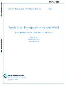 Female Labor Participation in the Arab World