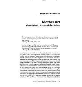 Feminism, Art and Activism