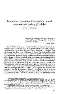 Feminismo transnacional o feminismo global: autoritarismo, poder y pluralidad