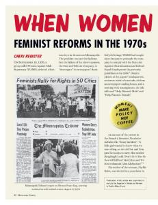 Feminist Reforms in the 1970s