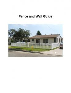 Fence and Wall Guide