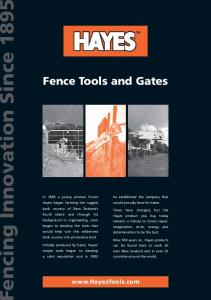 Fence Tools and Gates