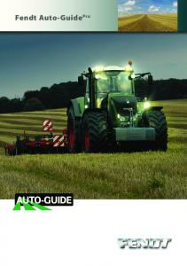 Fendt Auto-Guide Pro assistance for professional work