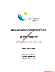 FENNAGH WASTE WATER TREATMENT PLANT CONTROL PHILOSOPHY