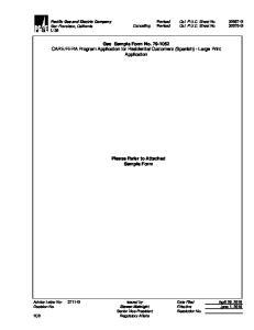 FERA Program Application for Residential Customers (Spanish) - Large Print Application