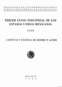 'fercer CENSO INDUSTRIAL DE LOS ESTADOS UNIDOS MEXICANOS