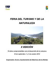 FERIA DEL TURISMO Y DE LA NATURALEZA