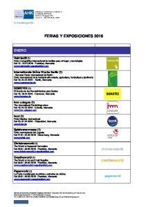 FERIAS Y EXPOSICIONES 2016
