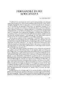 FERNANDEZ DURO AFRICANISTA