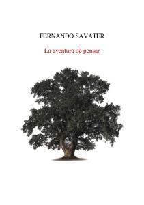 FERNANDO SAVATER. La aventura de pensar