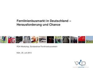 Fernlinienbusmarkt in Deutschland Herausforderung und Chance
