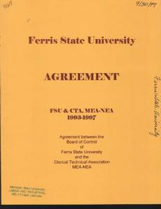 Ferris State University AGREEMEIVT