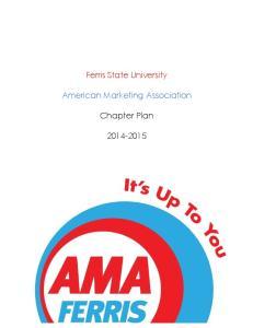 Ferris State University. American Marketing Association. Chapter Plan