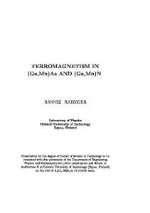 FERROMAGNETISM IN (Ga,Mn)As AND (Ga,Mn)N