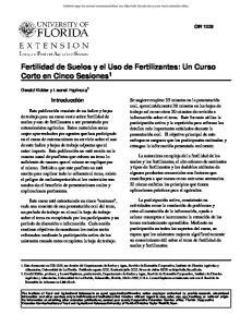 Fertilidad de Suelos y el Uso de Fertilizantes: Un Curso Corto en Cinco Sesiones 1
