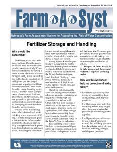 Fertilizer Storage and Handling