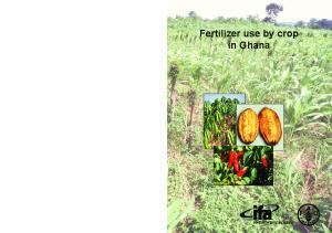 Fertilizer use by crop in Ghana