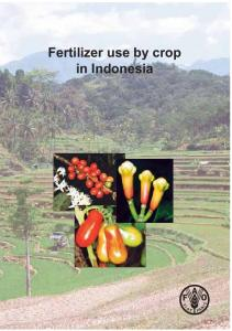 Fertilizer use by crop in Indonesia