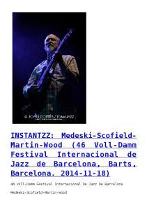 Festival Internacional de Jazz de Barcelona, Barts, Barcelona )