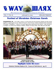 Festival of Ukrainian Christmas Carols