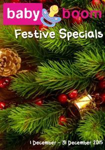 Festive Specials 1 December - 31 December 2015