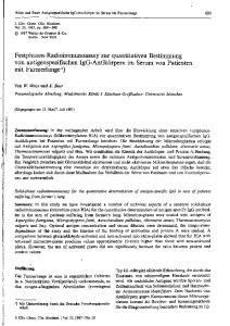 Festphasen-Radioimmunoassay zur quantitativen Bestimmung von antigenspezifischen IgG-Antikörpern im Serum von Patienten mit Farmerlunge 1 )